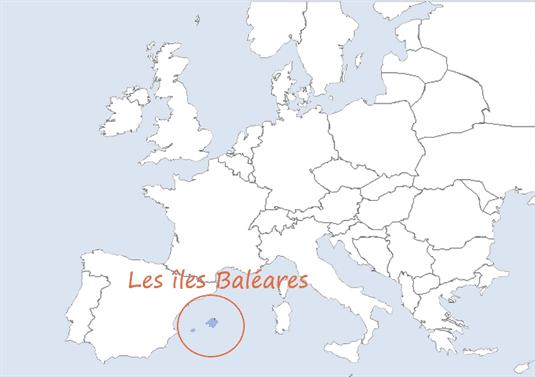 Carte Europe Baleares My Family Trip