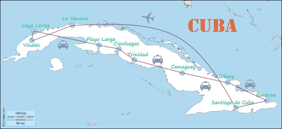 Carte Cuba Cayo Levisa.Carte Cuba My Family Trip