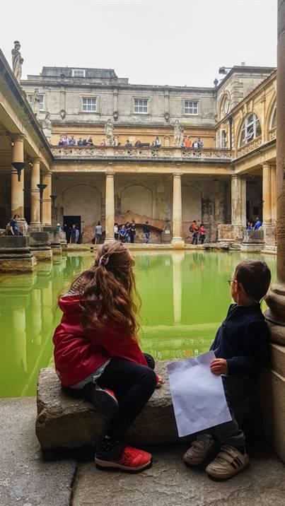 Bain Romains Bath Angleterre