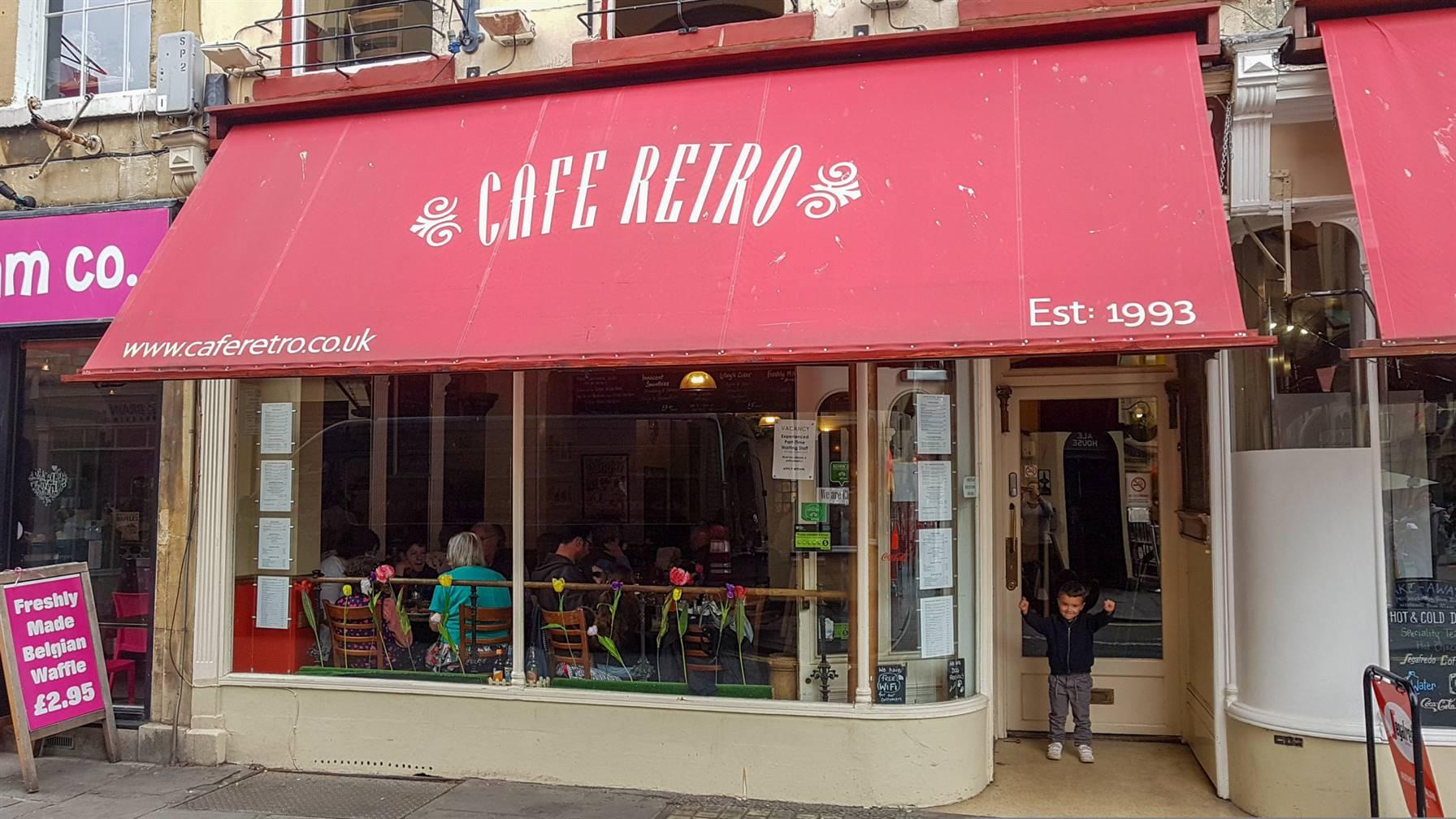 café rétro Bath Angleterre