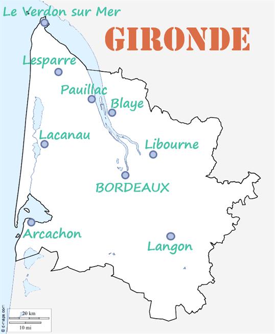Carte Gironde