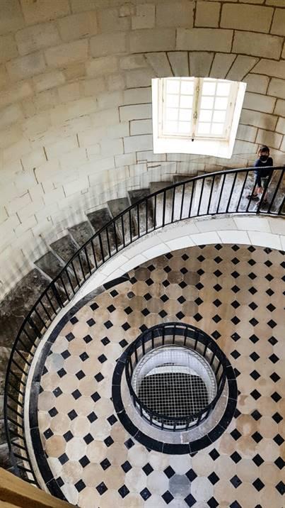 l'escalier hélicoïdal du Phare de Cordouan