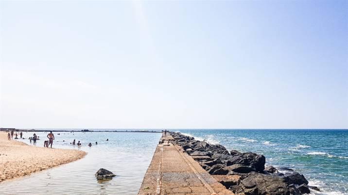 La plage des Piscines à Soulac-sur-Mer