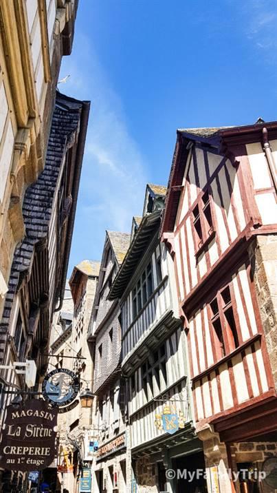 Les ruelles du Mont-Saint-Michel