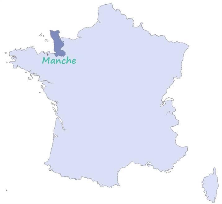 carte de la Manche