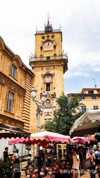 Place à l'hôtel de Ville à Aix-en-Provence