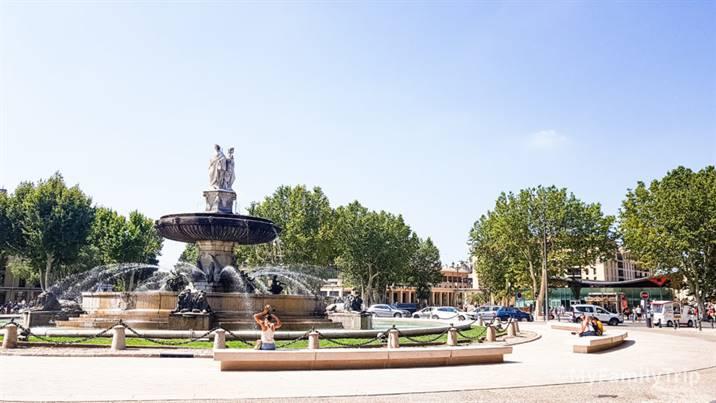 La place de la Rotonde à aix-en-Provence