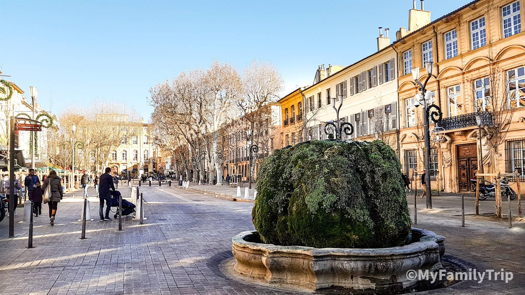 Cours Mirabeau à Aix-en-Provence